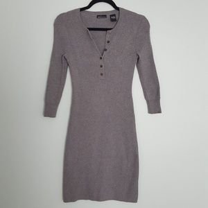 Moda International Gray Sweater Dress